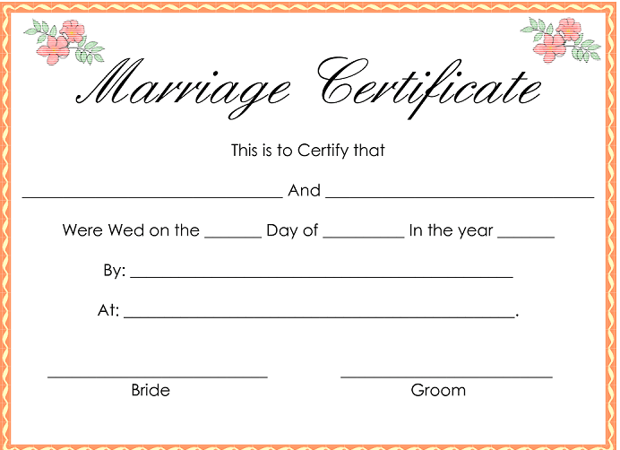 With A Fake Marriage Certificate Online Make The Most Of