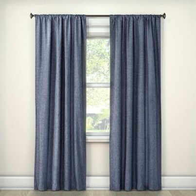 new blue curtains