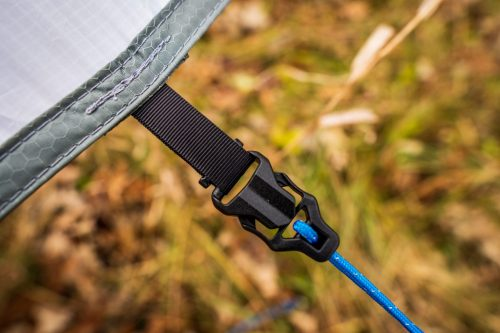 Shelter clip-in adjustable ropes