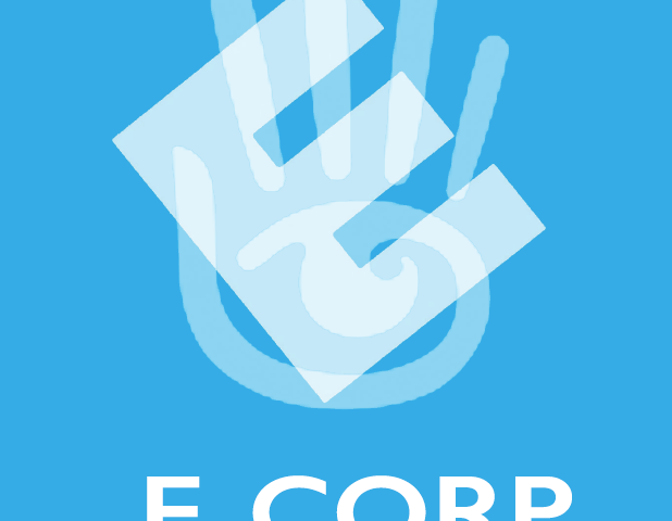 E CORP + Second Life logo