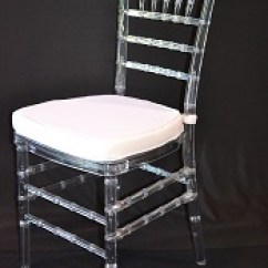 Clear Chiavari Chairs Mothercare Travel High Chair Booster Seat Resin With White Cushion Superior Party Rentals