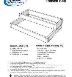 vinyl raised bed install guide [ 1391 x 1804 Pixel ]