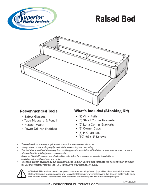 small resolution of vinyl raised bed install guide