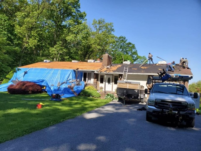 One of our roof replacement services in carroll county md westminster. We got this roof approved by insurance.