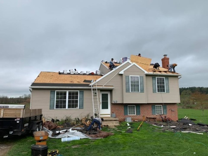 Carroll County's Manchester MD roof damage insurance claim and roof replacement by Superior Services