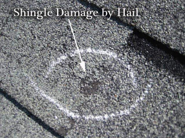 Hail Damage to Asphalt Shingle Roof Documented Correctly for Insurance Claim