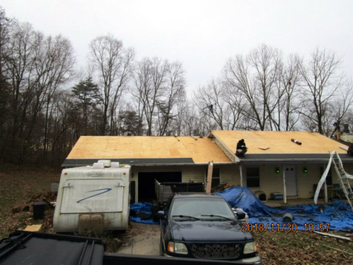 Hail and wind damage roof repair service in Westminster MD 21158 by Superoir Services roofing insurance claims