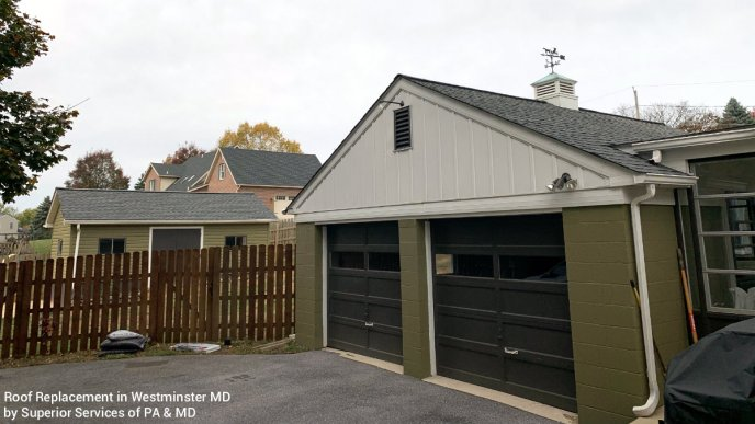 Roof Replacement in Westminster MD by Roofing Contractor Superior Services of PA & MD