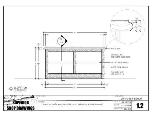 SSD-DIY-004 - Foyer Bench