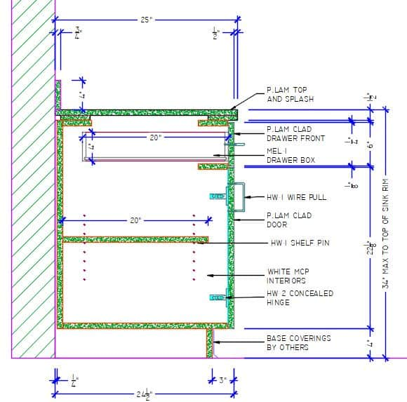 SSD Section View Drawings