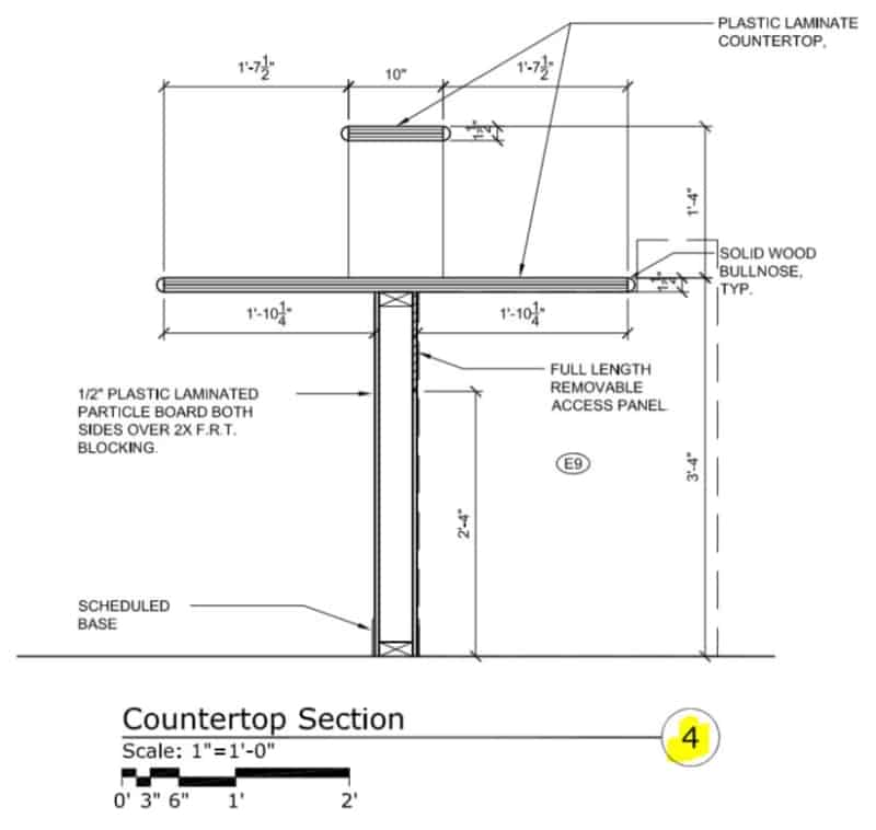 Read Architectural Drawings - Millwork Section - 4/A13.2