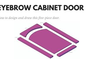 Eyebrow Cabinet Door