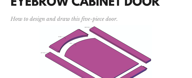 Eyebrow Cabinet Door