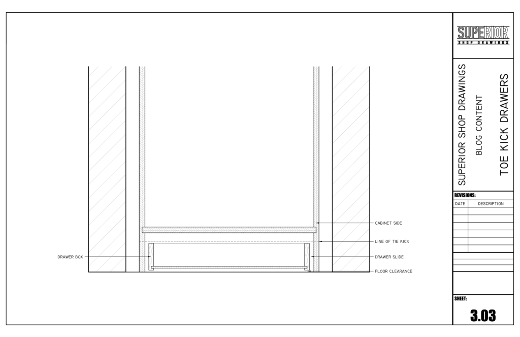 Toe Kick Drawers - Elevation 2