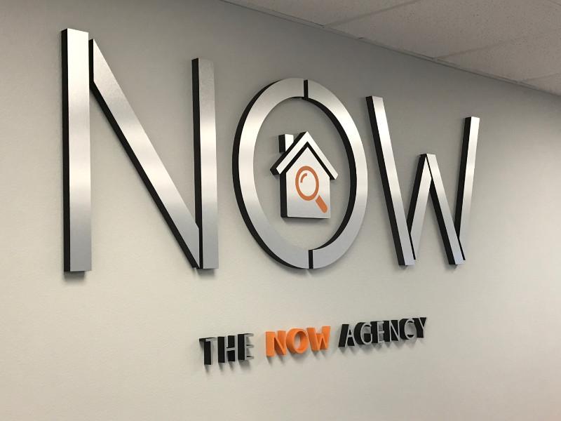 Office lobby signs. Custom 3D Logo Wall Signs. Irvine. CA 92614