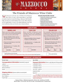 Wine Club Form