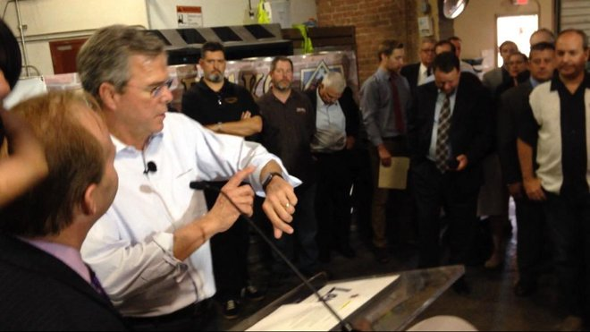 Apple Watch is better for you than Obamacare, Jeb Bush says