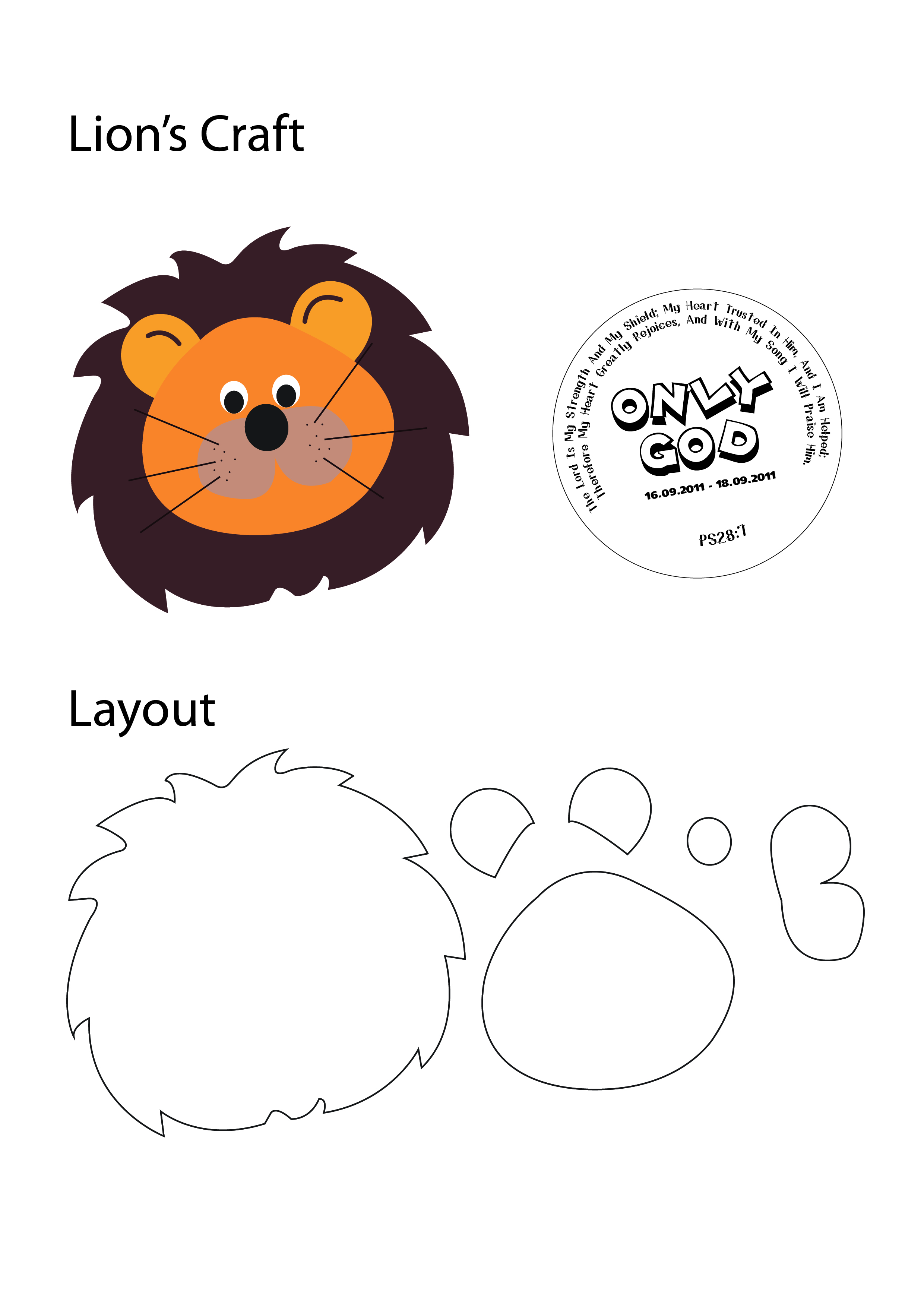 Lion Craft Template Pictures To Pin