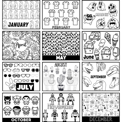 Download a 2021 Printable Calendar to Color