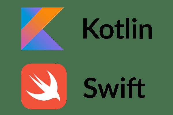 Kotlin and Swift logos