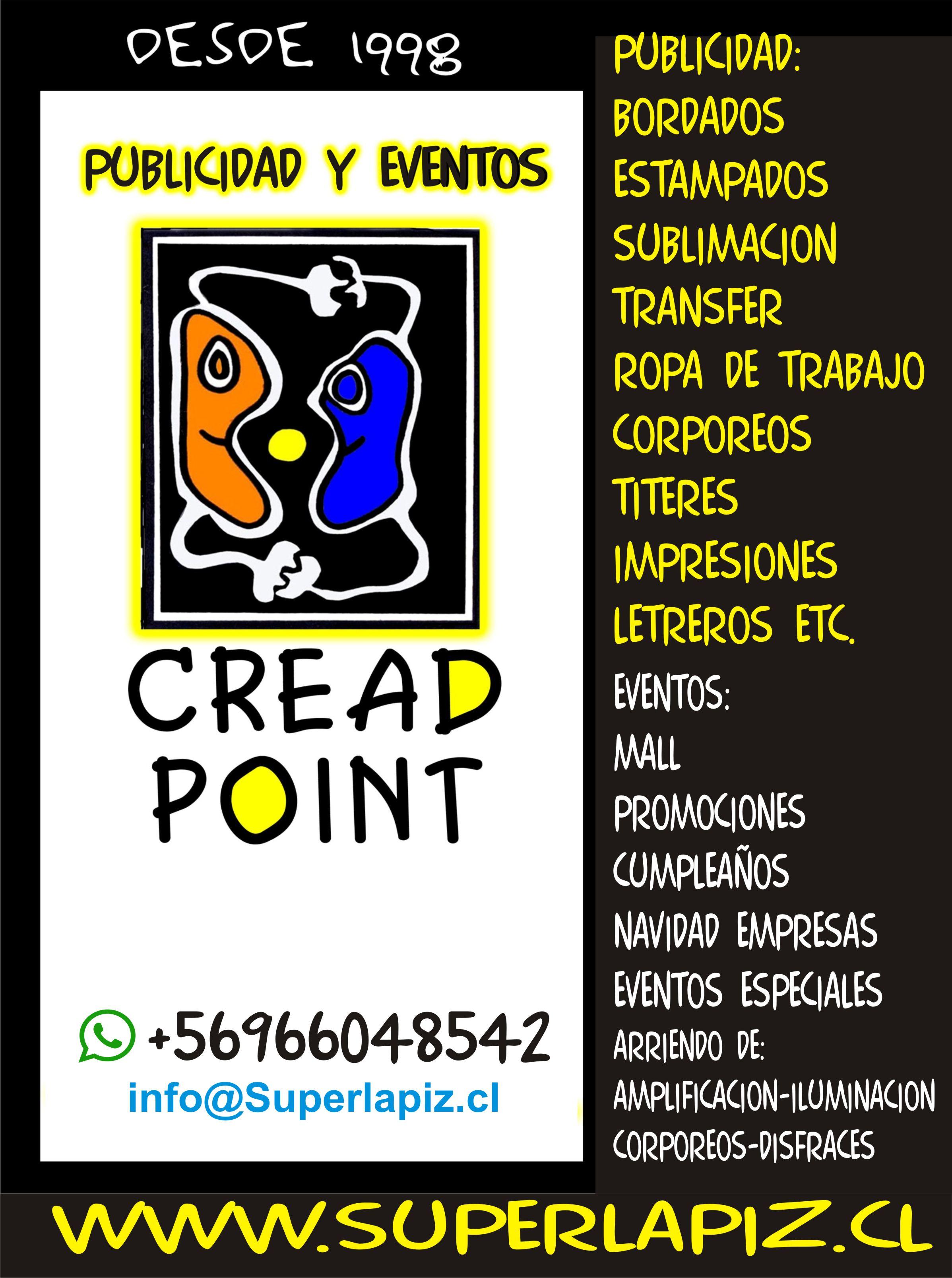 CREAD POINT  Agencia de publicidad y eventos desde 1998