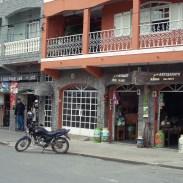 Außenblick der Läden