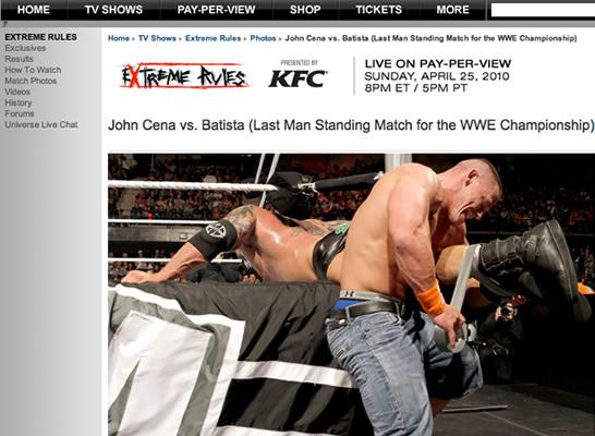 John Cena vence de forma curiosa a Batista en WWE Extreme Rules 2010 / WWE.com