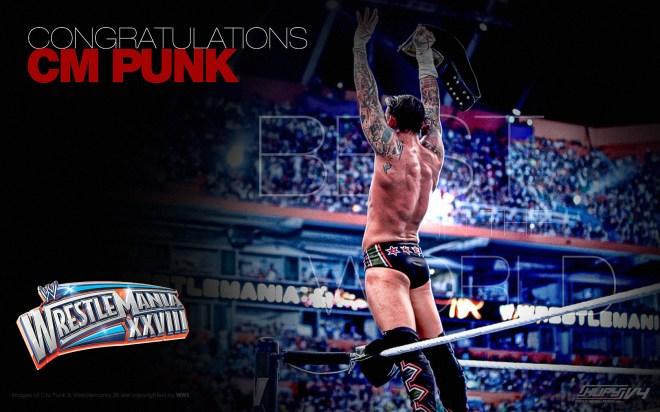 Congratulations CM Punk - WrestleMania 28 / KupyWrestlingWallpapers.info