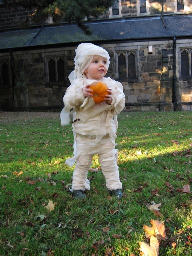 Homemade toddler mummy costume by SuperLucky Di