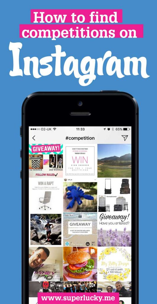 How to find Instagram competitions, contests and sweepstakes