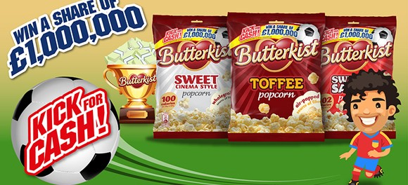 Traction worked on the recent Butterkist 'Kick for Cash' instant win