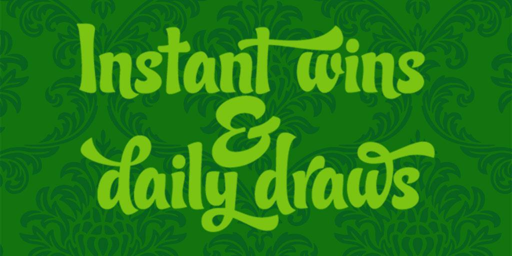 960bb0b4e List of instant wins   daily draws