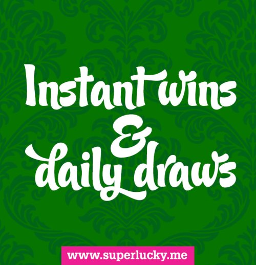 List of instant wins and daily draws