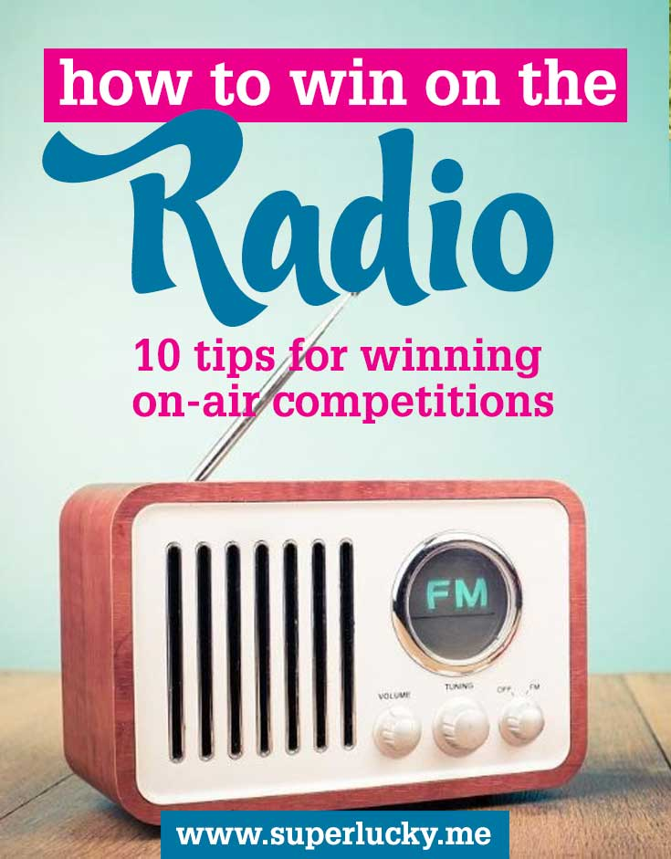 How to win radio competitions and contests: ten tips from top comper Di Coke