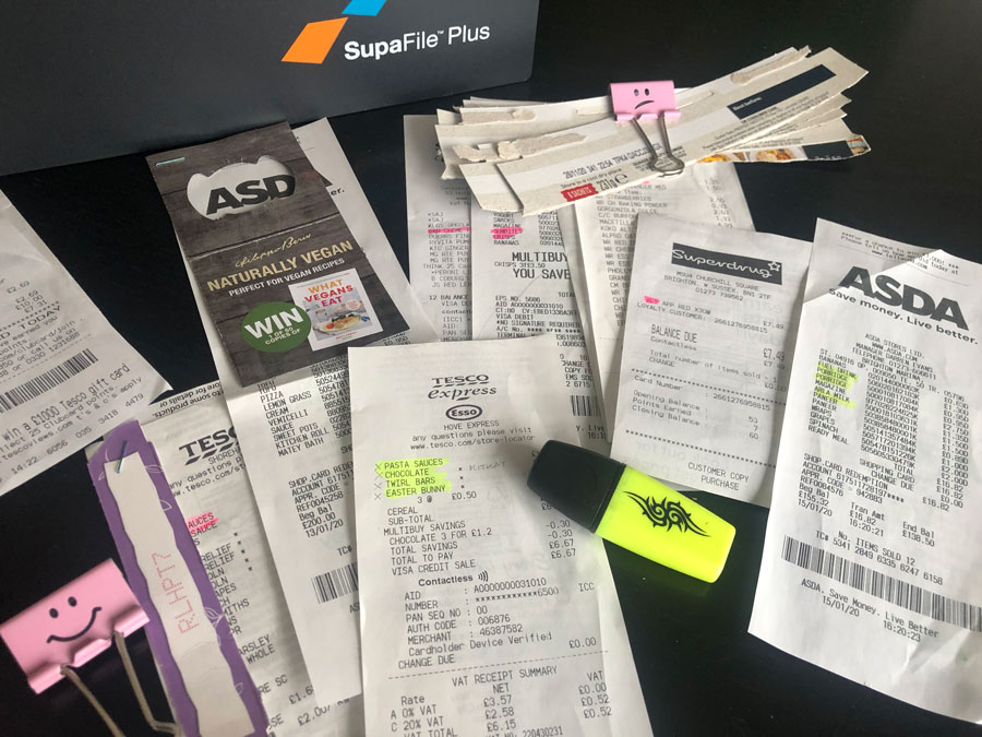 How to organise comping quallies, receipts & POPs