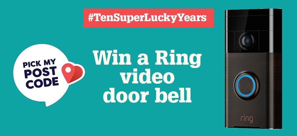 Celebrating ten years of SuperLucky - win a Ring Video Door Bell