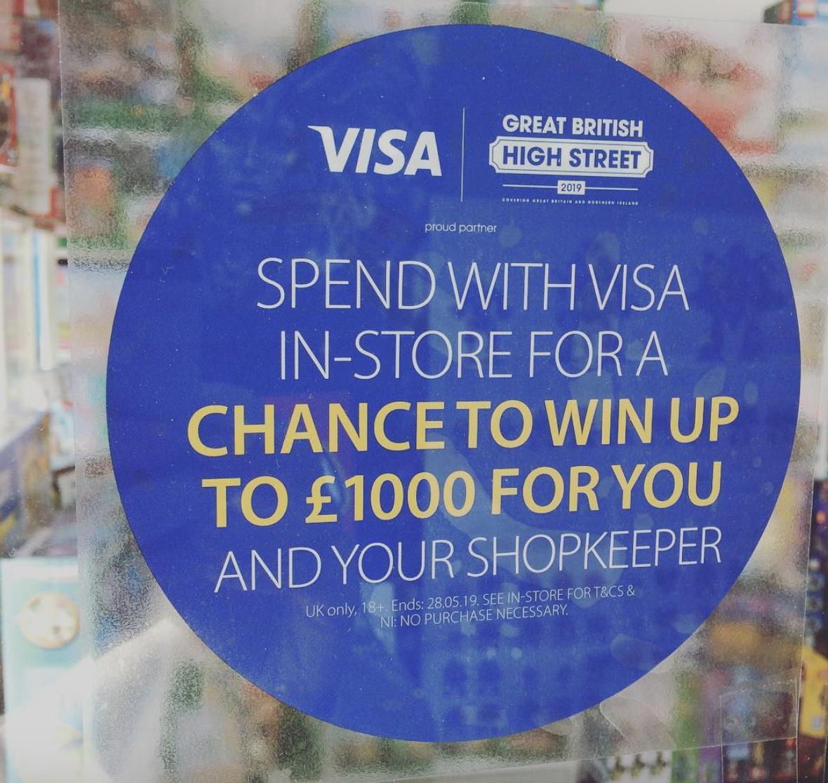 Visa Great British High Street promotion