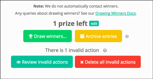 Using Gleam to choose a random winner