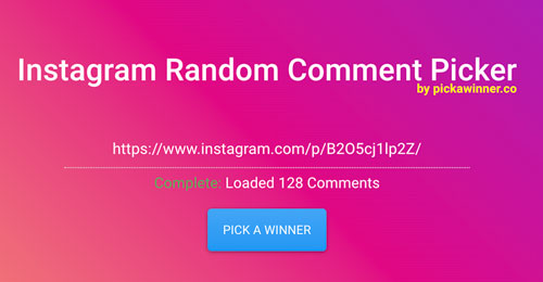 Using Pick A Winner to choose a random winner on Instagram