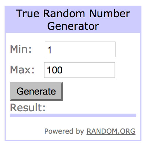 Using random.org to choose a random winner