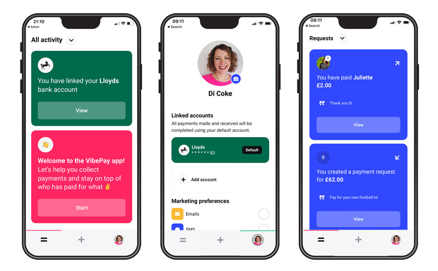 Using the Vibe Pay app