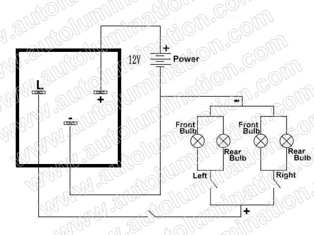 3 pin flasher relay wiring diagram er for hospital management system led flashers resistors load equalizers turn signal bulbs fix