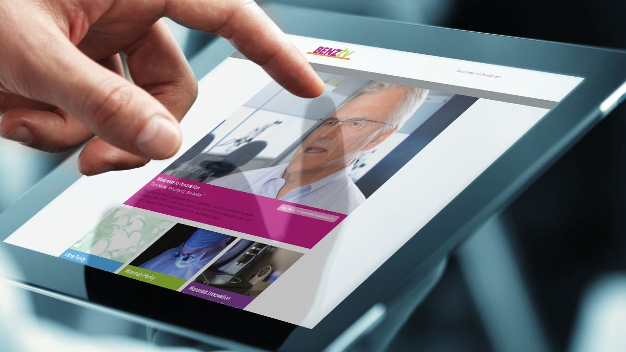 Online video marketing through the Benz TV website