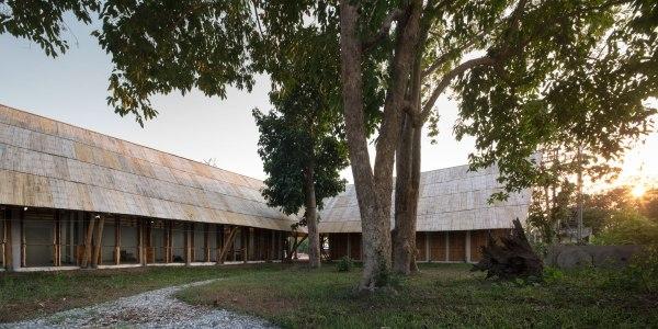 bamboo school earthquake relief