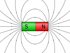 Alle Magneten haben einen Nordpol und einen Südpol. Von diesen Polen laufen die magnetischen Feldlinien zum entgegengesetzten magnetischen Pol.