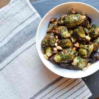 roasted brussel sprouts with pine nuts   superman cooks