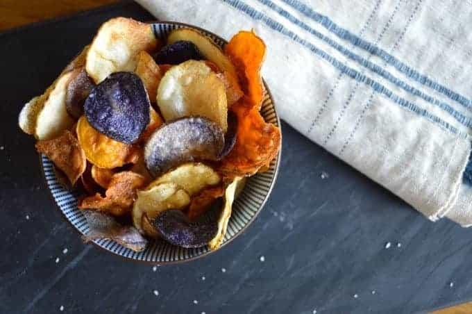 tri-color potato chips