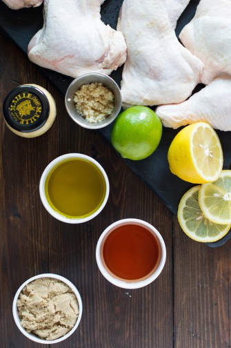 grilled chicken with lemon harissa mustard