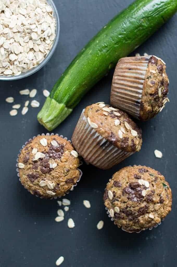 zucchini & chocolate muffins