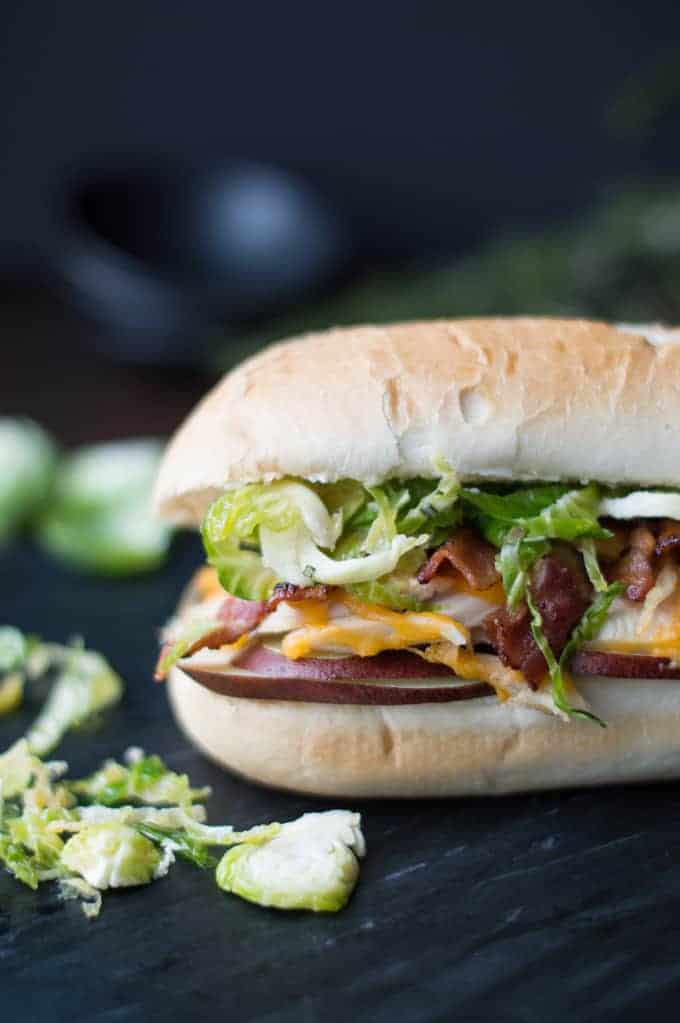 holiday hoagie with turkey, bacon & brussel sprouts | superman cooks